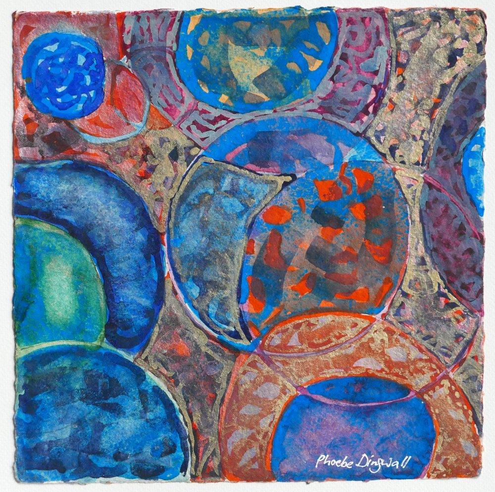 N°9 Watercolor on paper 25 x 25 cm
